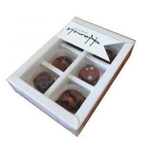 6 Fruit Flavoured Dark Chocolates (70%)